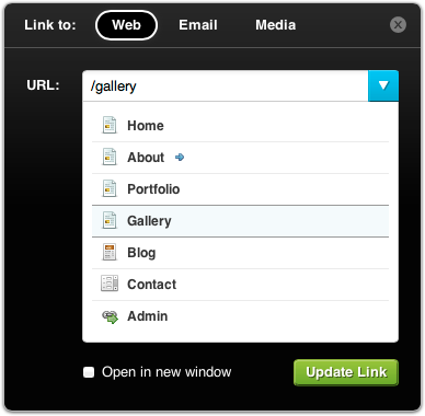 Revamped Link Dialog